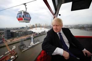Emirates Air Line Cable Car - project sponsor Mayor Boris Johnson